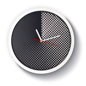 modern grey halftone wall clock minimal exclusive design