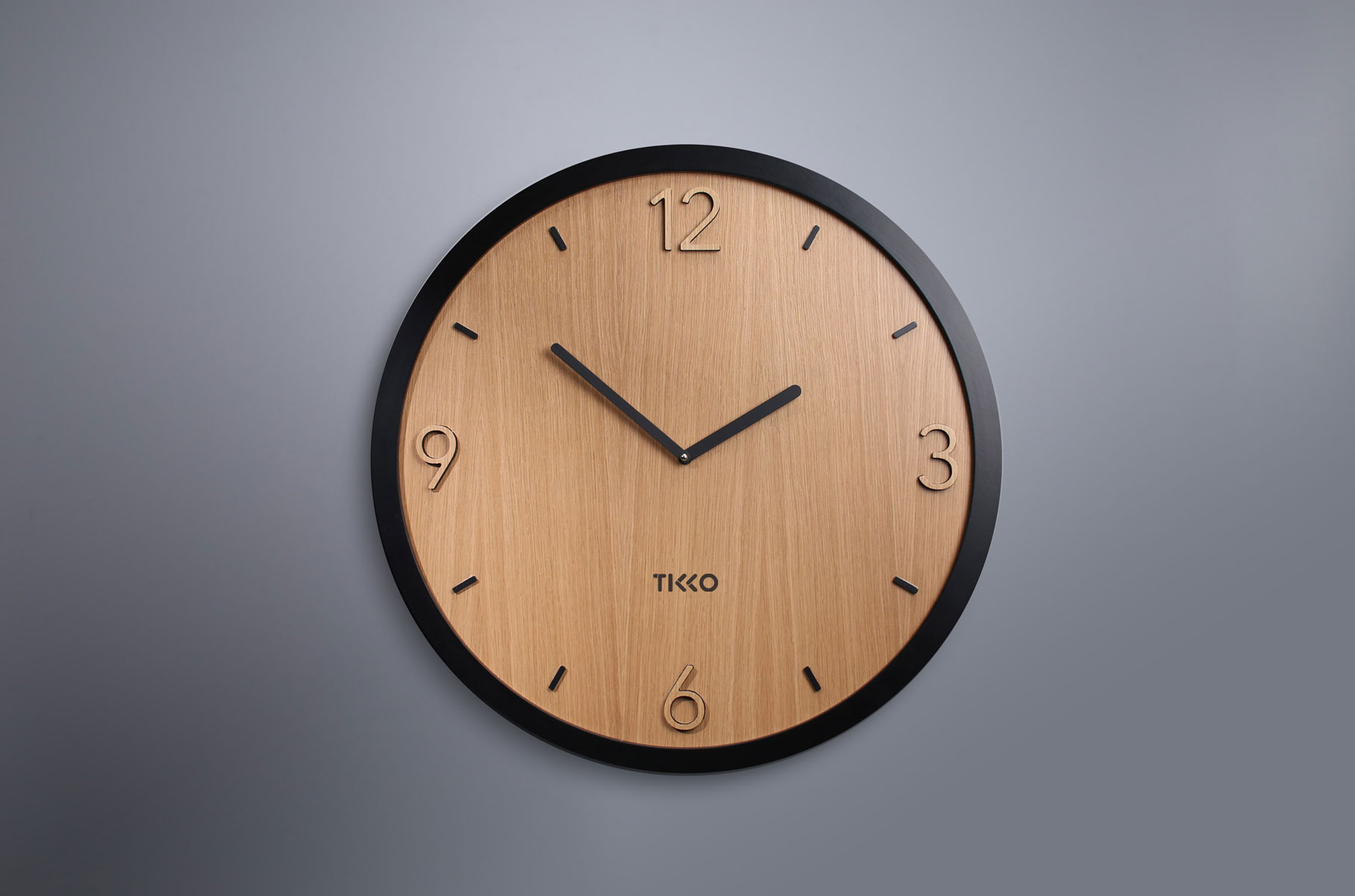 Modern tikko wall clock wood wooden