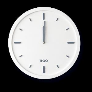 Big large modern white wall clock minimal exclusive design